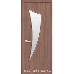Двери Парус золотая ольха со стеклом (сатин матовый)