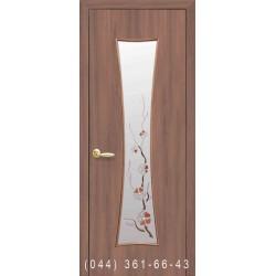 Двери Часы ольха 3d со стеклом (матовое) + рис. Р1