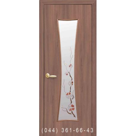 Двері Часи (Годинник) вільха 3d зі склом (матове) + рис. Р1