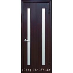 Двери Вера венге dewild со стеклом (сатин матовый)