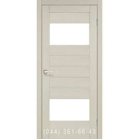 Двери КОРФАД PORTO PR-09 дуб беленый со стеклом (сатин матовый)