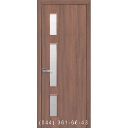 Двери Герда ольха 3d со стеклом (сатин матовый)