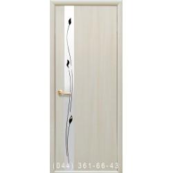 Двери Злата ясень глухое + вставка зеркало