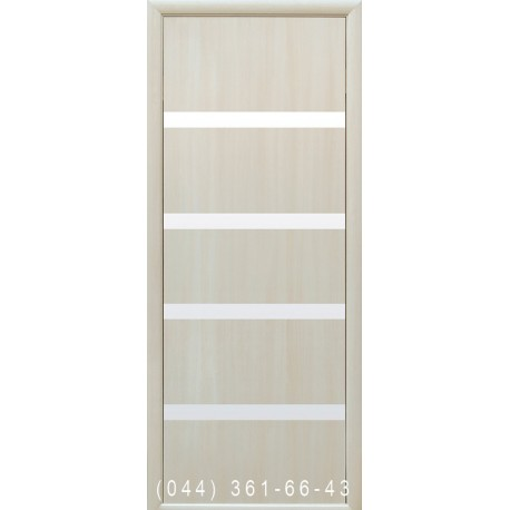 Двери Нота дуб жемчужный со стеклом (сатин матовый)