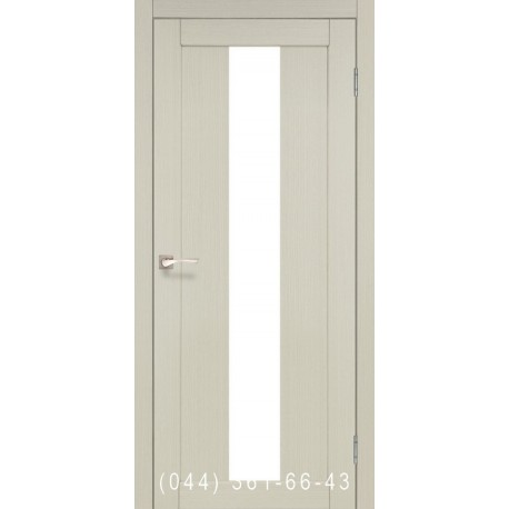 Двері КОРФАД PORTO PR-10 дуб білений зі склом (сатин матовий)
