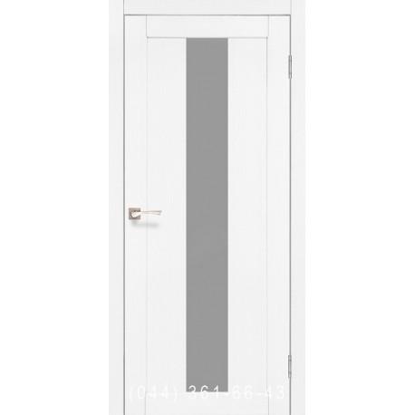 Двери КОРФАД PORTO PR-10 ясень белый со стеклом (сатин матовый)