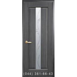 Двері Прем'єра грей зі склом (матове) + рис. Р2