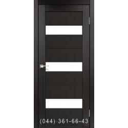 Двері КОРФАД PORTO PR-11 венге зі склом (сатин матовий)
