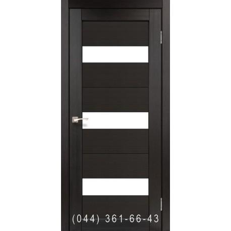 Двери КОРФАД PORTO PR-11 венге со стеклом (сатин матовый)