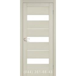 Двері КОРФАД PORTO PR-12 дуб білений зі склом (сатин матовий)