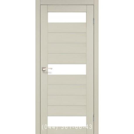 Двері КОРФАД PORTO PR-14 дуб білений зі склом (сатин матовий)