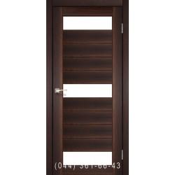Двері КОРФАД PORTO PR-14 горіх зі склом (сатин матовий)