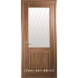 Двери Эпика золотая ольха со стеклом (матовое) + рис. Р2