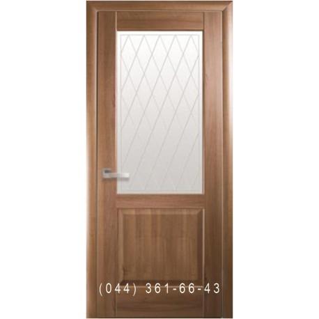 Двері Епіка золота вільха зі склом (матове) + рис. Р2