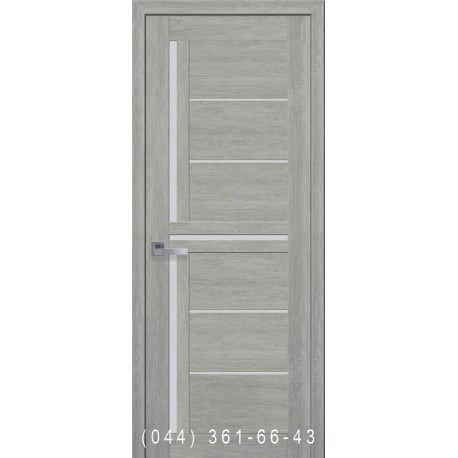 Двери Диана дуб дымчатый со стеклом (сатин матовый)