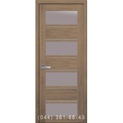 Двери Элиза дуб медовый со стеклом (сатин матовый)