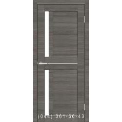 Двері Cortex Deco 01 дуб Ash Line зі склом (сатин матовий)