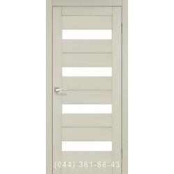 Двери КОРФАД PORTO DELUXE PD-02 дуб беленый со стеклом (сатин матовый)