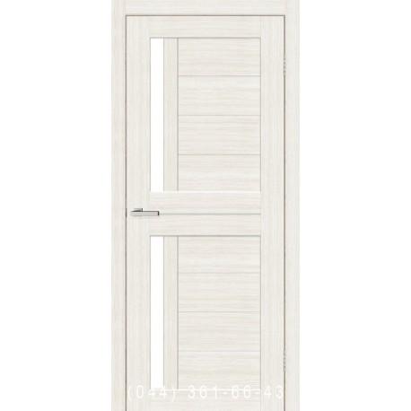 Двері Cortex Deco 01 дуб Bianco зі склом (сатин матовий)