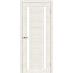 Двері Cortex Deco 02 дуб Bianco Line зі склом (сатин матовий)