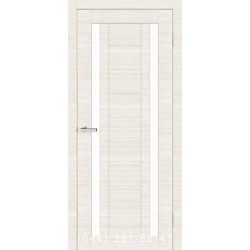 Двери Cortex Deco 02 дуб Bianco Line со стеклом (сатин матовый)