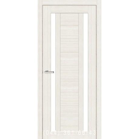 Двері Cortex Deco 02 дуб Bianco зі склом (сатин матовий)
