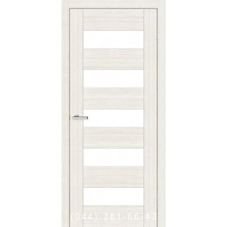 Двері Cortex Deco 04 дуб Bianco зі склом (сатин матовий)