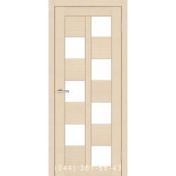 Двері Cortex Deco 05 дуб Latte зі склом (сатин матовий)