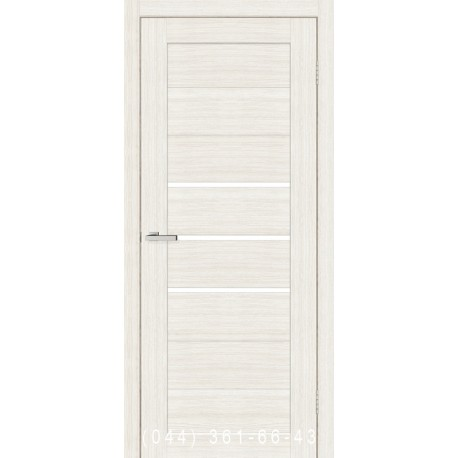 Двери Cortex Deco 06 дуб Bianco со стеклом (сатин матовый)