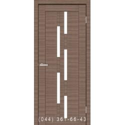 Двері Cortex Deco 08 дуб Amber Line зі склом (сатин матовий)