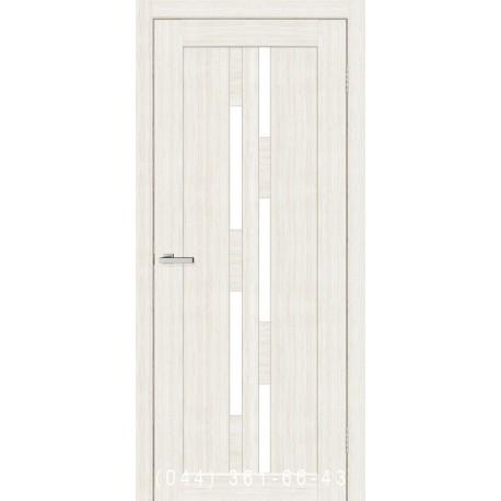 Двери Cortex Deco 08 дуб Bianco со стеклом (сатин матовый)