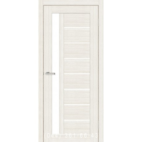Двери Cortex Deco 09 дуб Bianco со стеклом (сатин матовый)