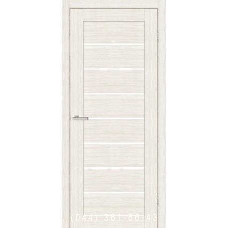 Двері Cortex Deco 10 дуб Bianco зі склом (сатин матовий)