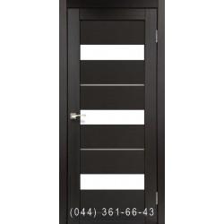 Двери КОРФАД PORTO DELUXE PD-12 венге со стеклом (сатин матовый)