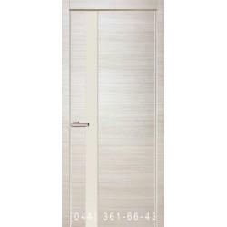 Двери Cortex Gloss 01 дуб Bianco со стеклом (триплекс)