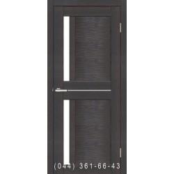 Двері Nova 3D N1 premium dark зі склом (сатин матовий)