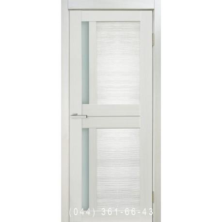 Двері Nova 3D N1 premium white зі склом (сатин матовий)
