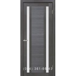 Двері Nova 3D N2 premium grey зі склом (сатин матовий)