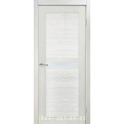 Двері Nova 3D N3 premium white зі склом (сатин матовий)