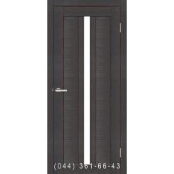 Двері Nova 3D N4 premium dark зі склом (сатин матовий)