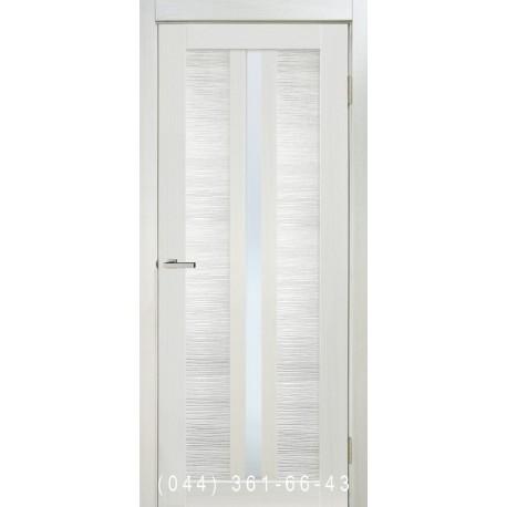 Двері Nova 3D N4 premium white зі склом (сатин матовий)