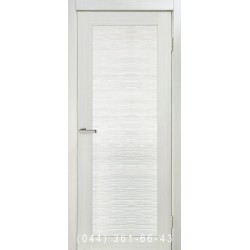Двері Nova 3D N5 premium dark зі склом (сатин матовий)