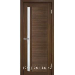 Двері Nova 3D N6 premium brown зі склом (сатин матовий)