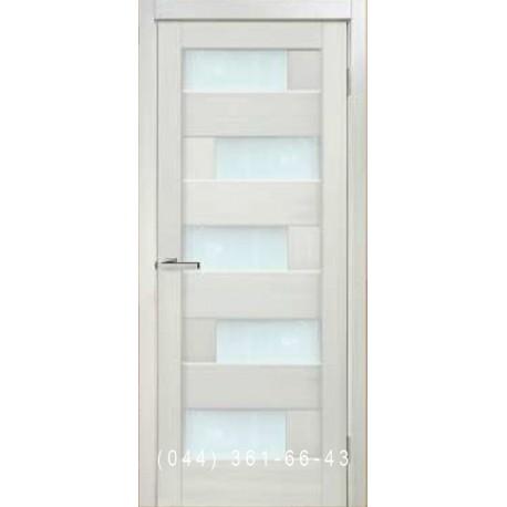 Двері Sirokko premium white зі склом (сатин матовий)