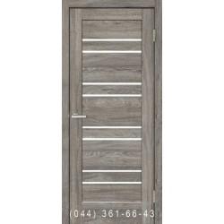 Двері Rino 01 дуб Денвер зі склом (сатин матовий)