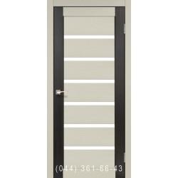 Двери КОРФАД PORTO COMBI COLORE PC-01 дуб беленый/венге со стеклом (сатин матовый)