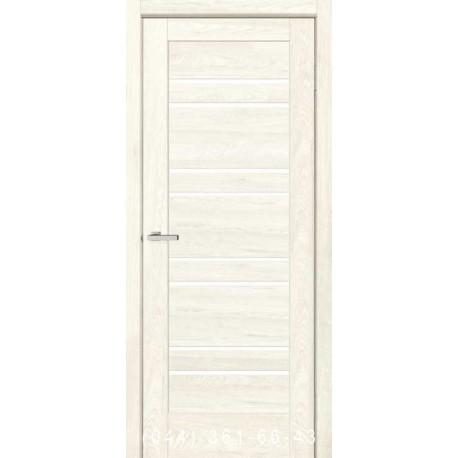 Двери Rino 01 дуб Остин со стеклом (сатин матовый)
