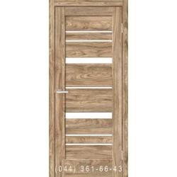Двері Rino 02 дуб Ориндж зі склом (сатин матовий)