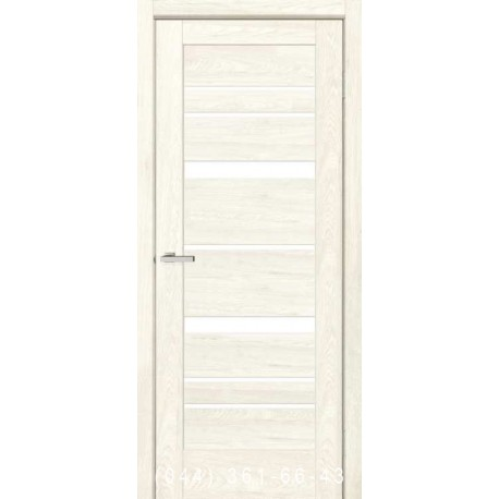 Двери Rino 02 дуб Остин со стеклом (сатин матовый)