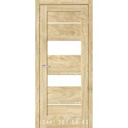 Двері Rino 04 дуб Саванна зі склом (сатин матовий)